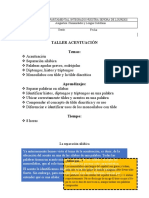 SEXTO - ESPAÑOL - TALLER ACENTUACIÓN
