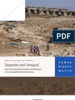 HRW Report Dec19-10 [Separate and Unequal -- Israel's Discriminatory Treatment of Palestinians in the Occupied Palestinian Territories]
