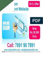 online exam management  website