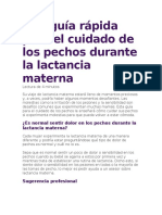 Una guía rápida para el cuidado de los pechos durante la lactancia materna