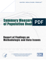 Summary measures of population health,Report of findings of methodologic and data issues