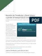 Revisión de TimeBucks_ ¿Ganar dinero o perder el tiempo_ (Guía completa).pdf