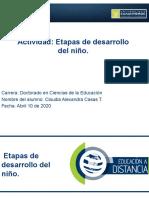 CLAUDIA A CASAS TRUJILLO 3.3. Presentación. Etapas de desarrollo del niño.