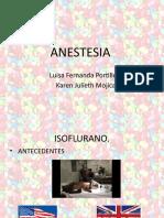 anestesia farmacologia