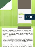 WEEK 11_Access Modifiers in Java