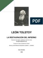 Tolstoi - La Restauracion Del Infierno