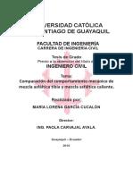 Comparación del comportamiento mecánico de Ecuador