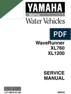 Yamaha Wave Runner - XL700 Repair Manual | Carburetor | Ignition System