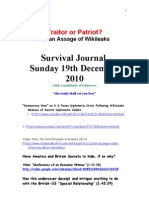 Survival Journal 19th December 2010