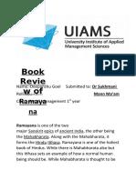 Book review of Ramayana