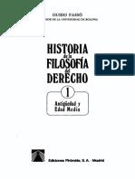 Fasso Guido - Historia de La Filosofia Del Derecho 1 - Antiguedad Y Edad Media