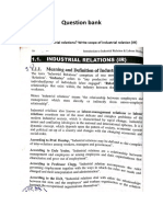 question bank LABOUR LAWS AND IMPLICATIONS ON INDUSTRIAL RELATIONS