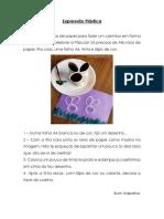 Coelho carimbo - Expressão plástica - 2ºSemana -