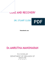 CURE AND RECOVERY- Dr.AMRUTHA MANOHARAN