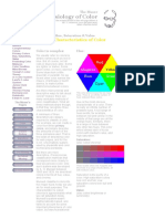 Hue, Saturation & Value—The Characteristics of Color.