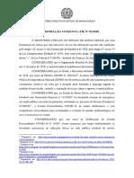 Recomendação MPMG - Trabalho rede estadual de ensino