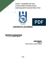 Contractul de mandat. CLAUDIA