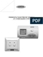 Termostat electronic fara fir (wireless) CONTER CT3W-Manual instructiuni