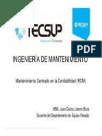 Sesión 03 - Ingeniería de Mantenimiento