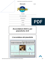 Manuale Utente. Accordatore Dirk's per pianoforte v4.0