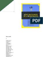 LEXIC MULTILINGUE CONSTRUCCIO