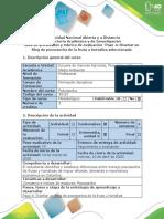 Guía de actividades y rúbrica de evaluación - Paso 4 - Diseñar un Blog de poscosecha de la fruta u hortaliza seleccionada
