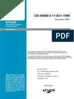 CEI 60068-2-11 AC1
