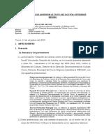 Sentencia y votos favorables. Caso Sheraton  Cusco