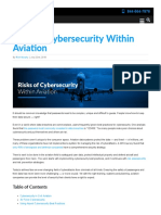 Risks of Cybersecurity within Aviation