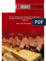 NORMA SANITARIA PARA LA FABRICACIÓN%2c ELABORACIÓN Y EXPENDIOS DE PRODUCTOS DE PANIFICACIÓN N.°.pdf