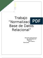 Resolución y normalización trabajo BD