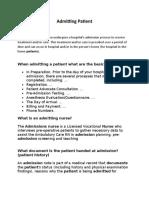 Admitting Patient 2020.docx