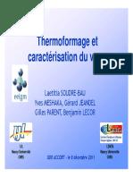 thermoformage de verre
