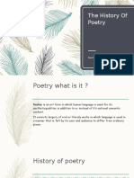 The History Of Poetry- Ayu Latifah