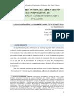 LA EVALUACIÓN CLINICA COGNITIVO CONDUCTUAL COMO BRUJULA DEL ÉXITO CEBREROS