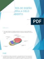 EXPOSICIÓN PARAMETROS DE DISEÑO DE MINERIA A CIELO ABIERTO