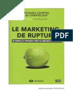 Le Marketing de Rupture (Résumé)