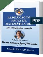 RESOLUÇÃO DA PROVA DE MATEMÁTICA 2018 Capa 3D PDF
