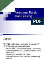 Akuntansi Leasing (Pajak)