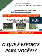 Esporte e sua classificação