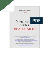20 Lecons Beaux Arts