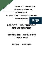 CUESTIONARIO ESTRUCTURA Y SERVICIOS BÁSICOS DEL SISTEMA OPERATIVO.