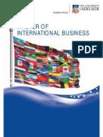 Master of International Business Program Brochure