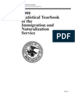Yearbook of Immigration Statistics 1999