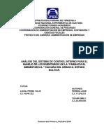 TG ANALISIS DEL SISTEMA DE CONTROL INTERNO PARA EL MANEJO DE LOS INVENTARIOS (Autores Pereda y Tovar 2016)