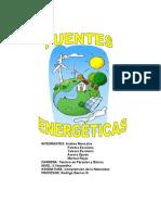 FUENTES ENERGÉTICAS trabajo CON LA PORTADA