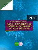 Plataforma Emergencial dos movimentos populares para a crise do Coronavirus