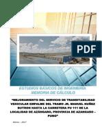 13_Memoria de Calculo_de Puente Azángaro