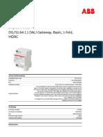 2CDG110198R0011 Dg s1 64-1-1 Dali Gateway Basic 1 Fold Mdrc