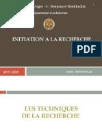 COURS N°5 LES TECHNIQUES ET LA CONSTRUCTION DES INSTRUMENT DE COLLECTES DE DONNEES.pptx